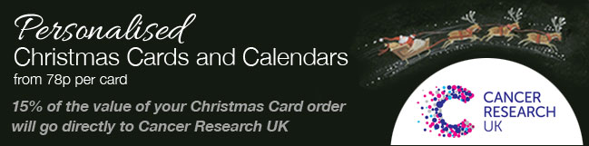 Cancer Research UK Charity Christmas Cards 2014 Banner