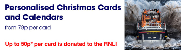 RNLI Charity Christmas Cards 2017 Banner
