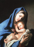 Madonna & Child with Rose