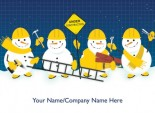 Construction Snowmen <br>Front Personalised